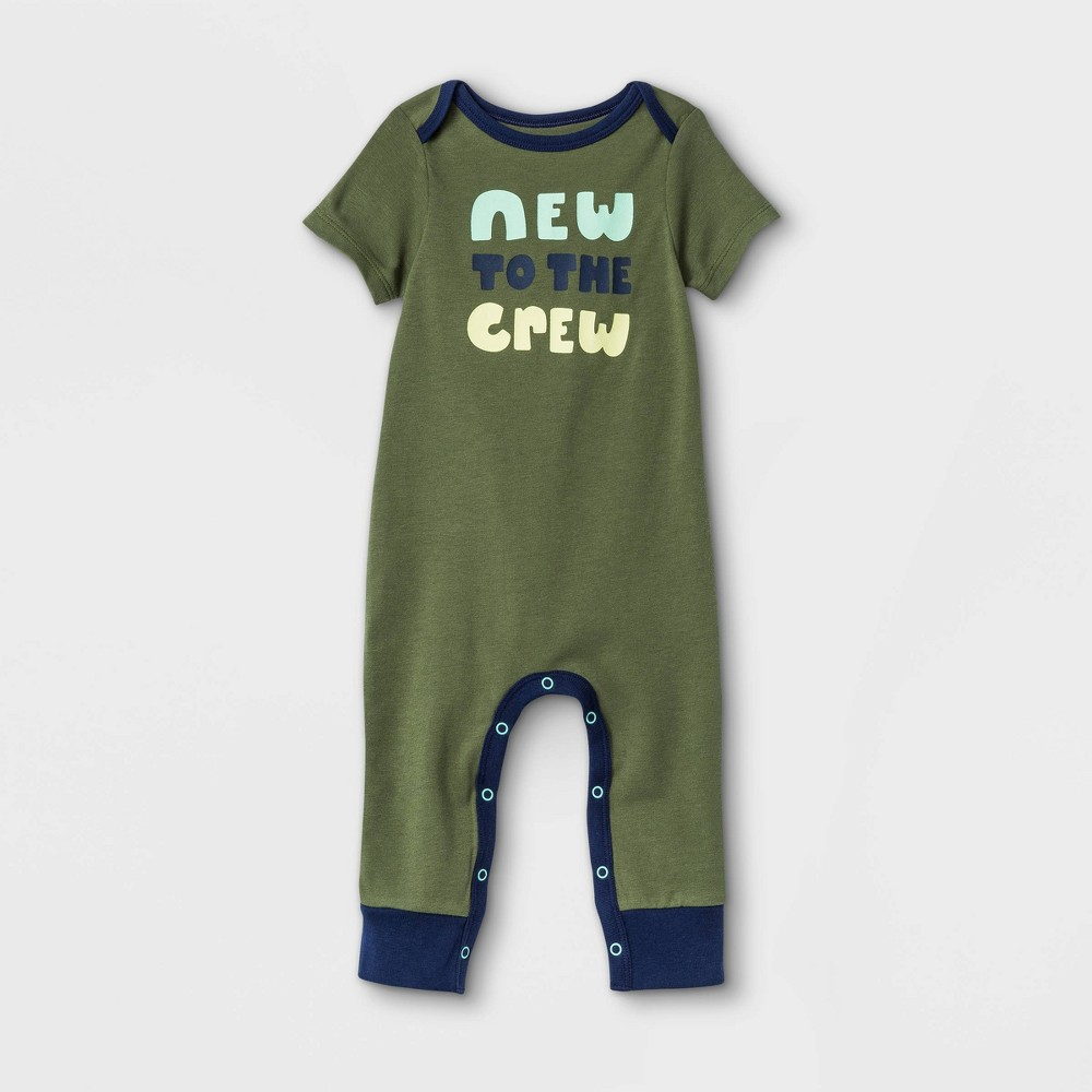 Baby 39 New To The Crew 39 Romper Cat 38 Jack 8482 Olive Green 3 6m