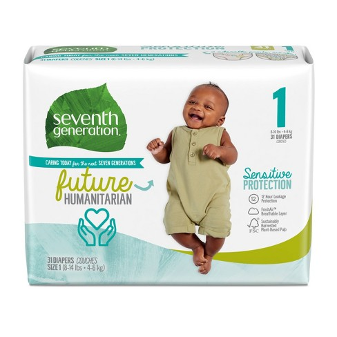Seventh Generation Sensitive Protection Diapers - (Select Size and Count) - image 1 of 4