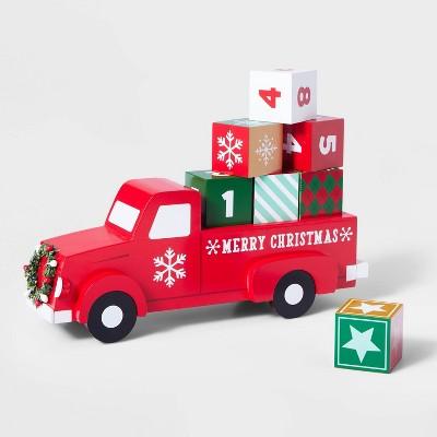Red Truck with Countdown Blocks Advent Calendar - Wondershop™