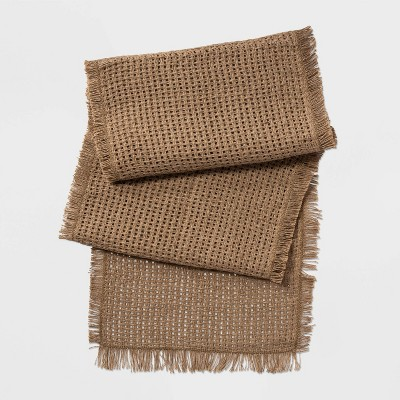 20 X90  Oversized Woven Table Runner Natural - Threshold™