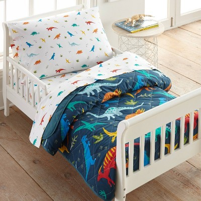 4pc Toddler Jurassic Dinosaurs Cotton Bed in a Bag - WildKin