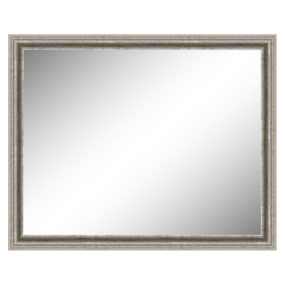 Image of Rectangle Bel Volto Decorative Wall Mirror Gray - Amanti Art, Cloudy Grey