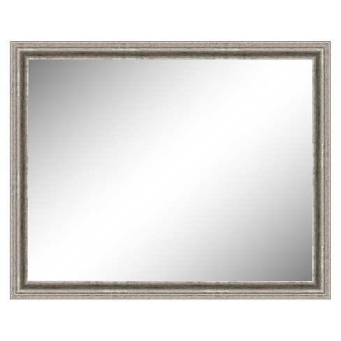Rectangle Bel Volto Decorative Wall Mirror Gray - Amanti Art - image 1 of 9