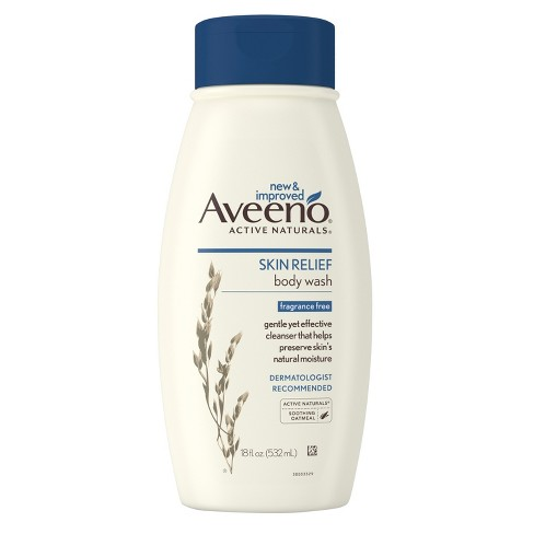 Aveeno Skin Relief Fragrance Free Body Wash for Dry Skin - 18floz - image 1 of 6