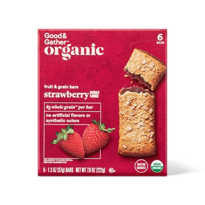 Organic Whole Grain Strawberry Fruit & Grain Bars - 6ct - Good & Gather™