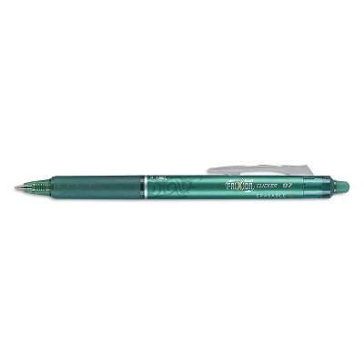 Pilot FriXion Clicker Erasable Gel Ink Retractable Pen Green Ink .7mm Dozen 31476