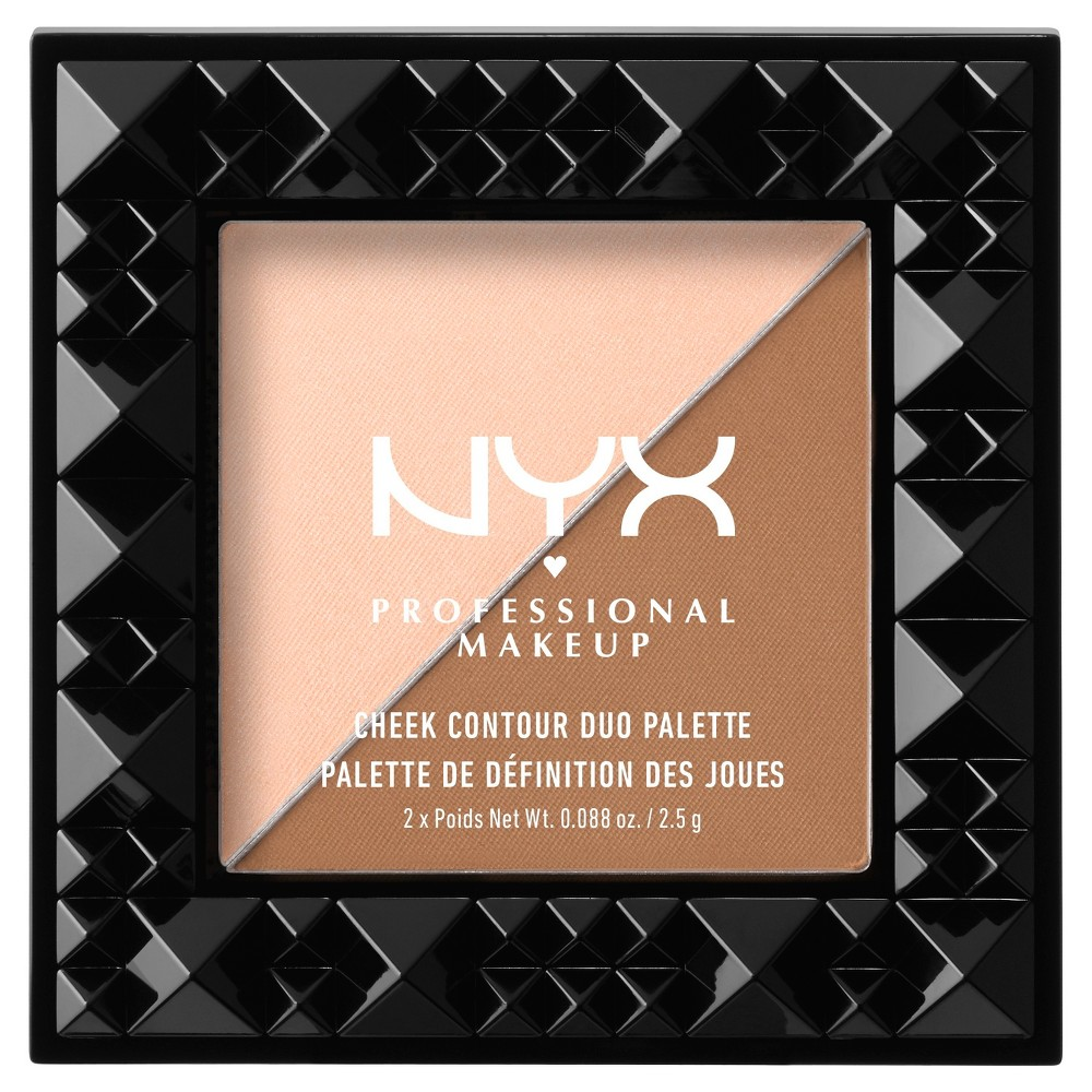 Nyx Professional Makeup Cheek Contour Duo Palette Cheek On Cheek - 0.08oz
