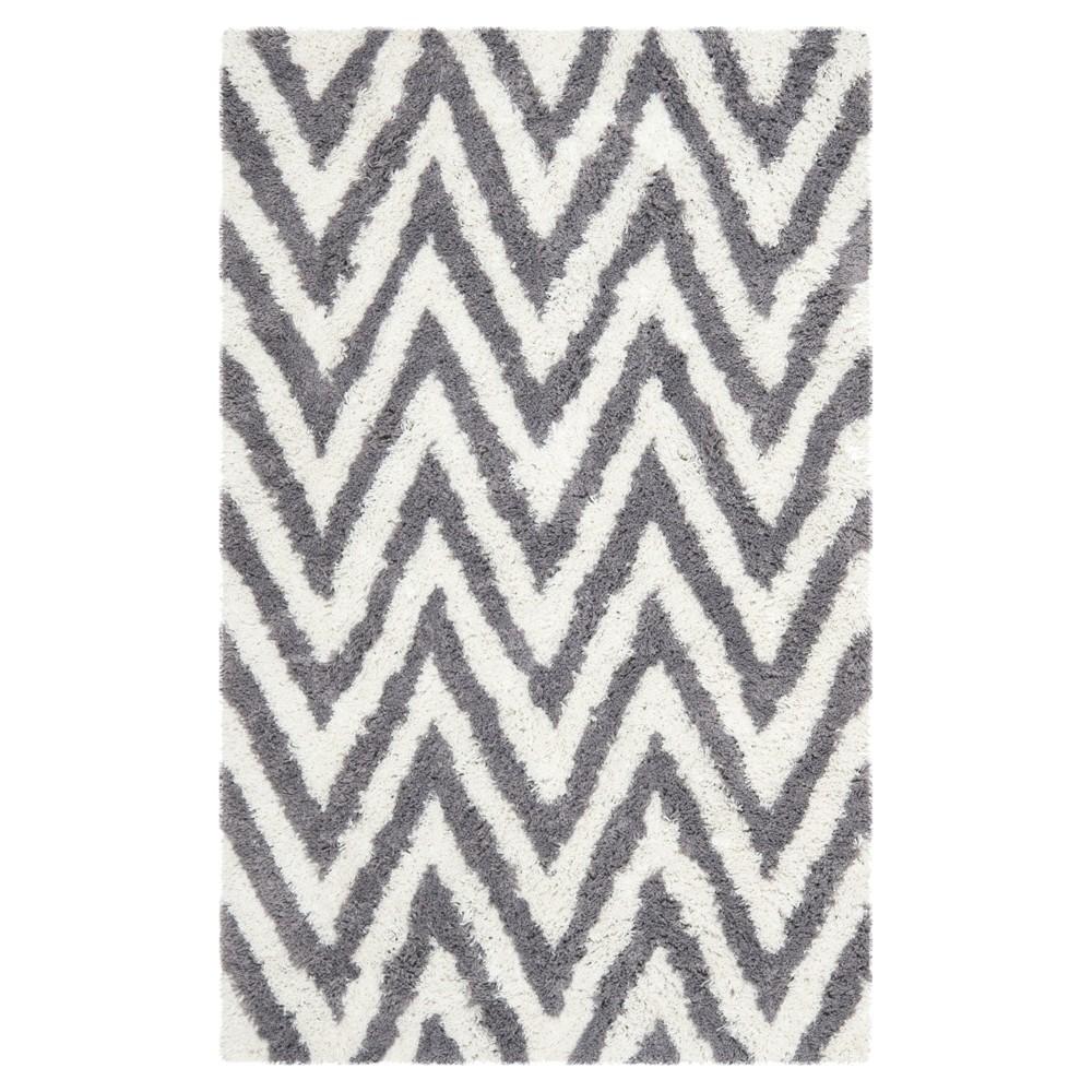 Nori Textured Shag Area Rug - Ivory/Gray (5'x8') - Safavieh