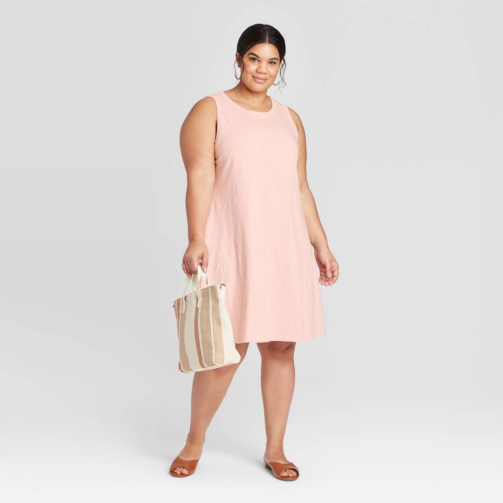Women's Plus Size Tank Dress - Universal Thread Blush Peach 2X, Blush Pink was $15.0 now $10.0 (33.0% off)