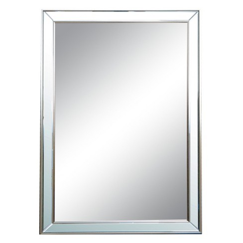 Rectangle Jolie Decorative Wall Mirror Silver - Abbyson Living - image 1 of 3