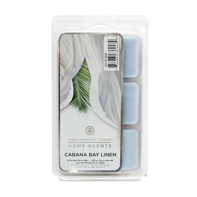 6pk Wax Melts Cabana Bay Linen - Home Scents by Chesapeake Bay Candle