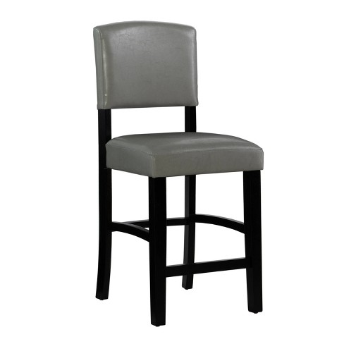 Groovy Monaco Counter Stool Gray Linon Machost Co Dining Chair Design Ideas Machostcouk