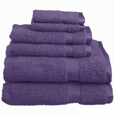 Warm and Absorbent Cotton Assorted 6-Piece Towel Set - Blue Nile Mills