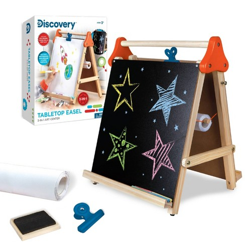 Discovery Kids Tabletop Dry Erase And Chalk Easel Target