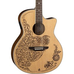 Luna Guitars Henna Oasis Select Spruce Acoustic-Electric Guitar Natural