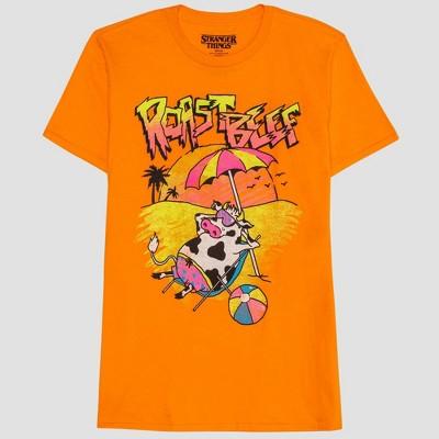 Men's Stranger Things Short Sleeve Graphic T Shirt Orange Dream by Shirt Orange Dream