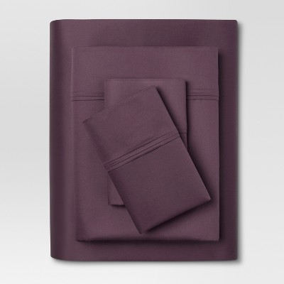 Performance Sheet Set (Twin)Dark Purple 400 Thread Count - Threshold™