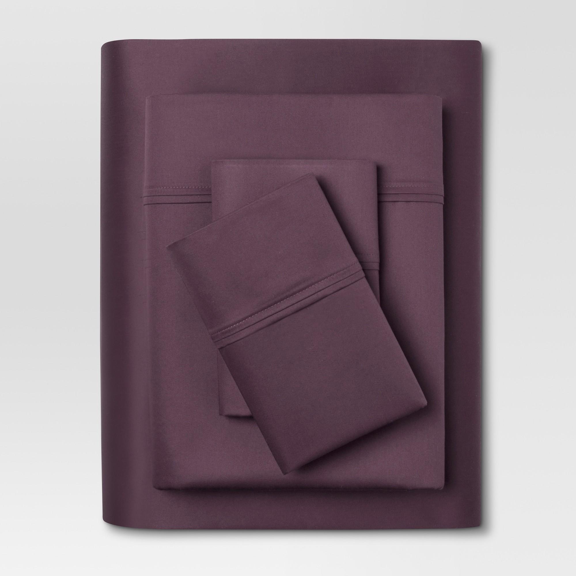 Performance Sheet Set (Full) Dark Purple 400 Thread Count - Threshold