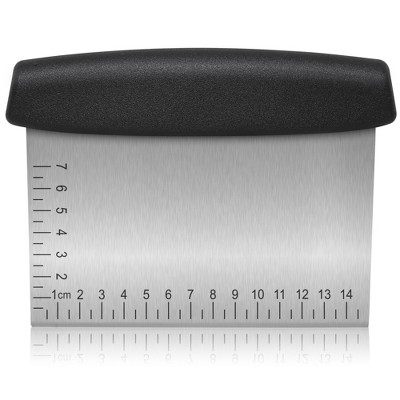 Zulay Kitchen Multi-Purpose Stainless Steel Bench Scraper & Chopper With Easy to Read Etched Markings for Perfect Cuts