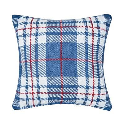 "C&F Home 18"" x 18"" Parker Blue & Red Pillow"