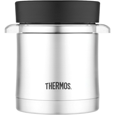 Thermos 12 oz. Stainless Steel Food Jar w/ Microwavable Container - Silver/Black