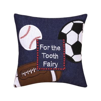 """C&F Home 8"""" X 8"""" Tooth Fairy Needlepoint Petite Pillow : Target"""
