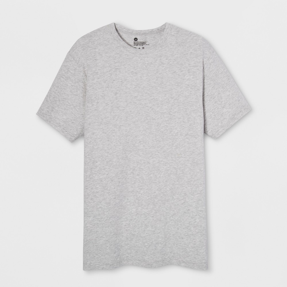 Men's Wood Works Short Sleeve Crew Neck T-Shirt - Heather Gray XL
