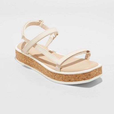 Women's Nova Sporty Cork Platform Sandals - A New Day™