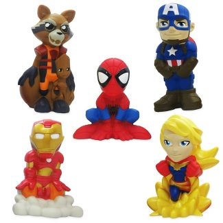 Disney Marvel Avengers 6pc Bath Figure Set - Disney store