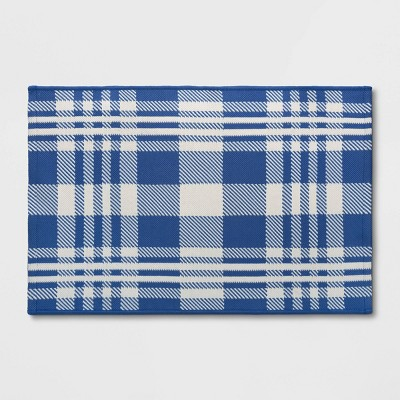 2'x3' Indoor/Outdoor Reversible Scatter Rug Blue/White - Threshold™