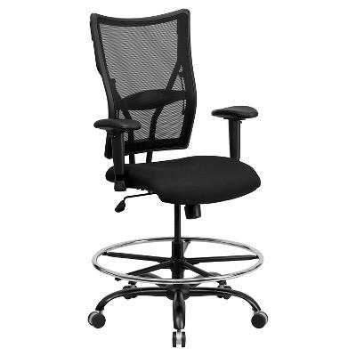 Merveilleux Capacity Big U0026 Tall Drafting Chair Black Mesh   Flash Furniture