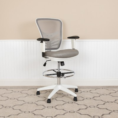 Emma and Oliver Mid-Back Mesh Adjustable Ergonomic Drafting Chair, Task Chair