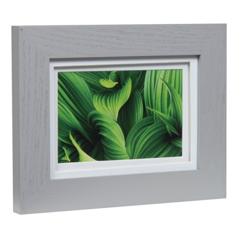 Single Image 5x7 Wide Double Mat Gray 4x6 Frame Gallery Solutions