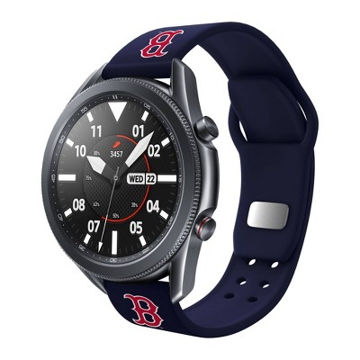 MLB Boston Red Sox Samsung Watch Compatible Silicone Sports Band - 22mm