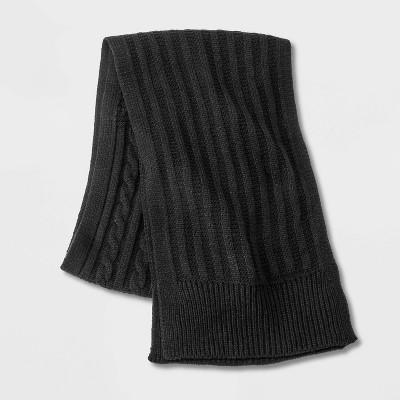 Men's Knit Scarf - Goodfellow & Co™ Black One Size