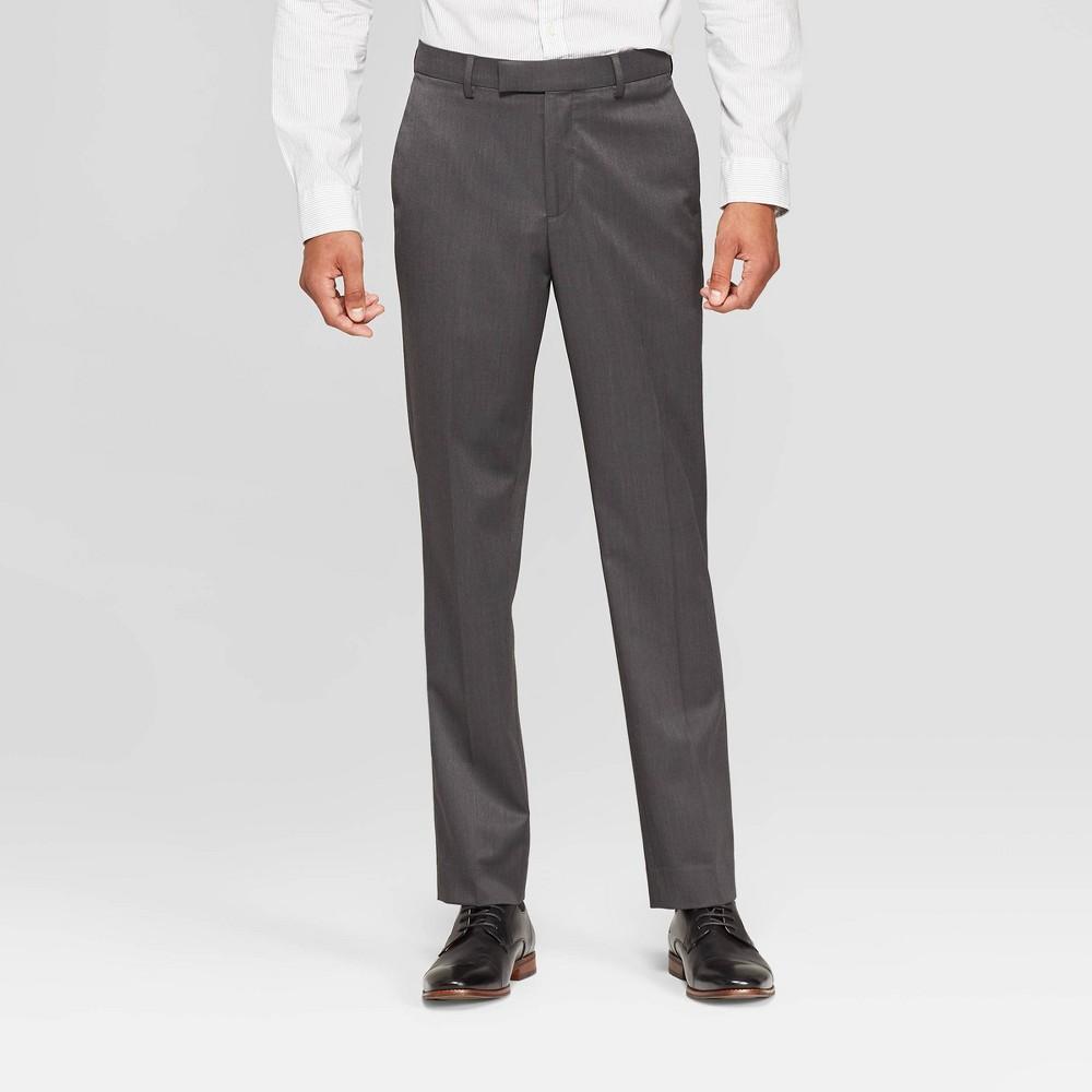 Men's 32 Slim Fit Suit Pants - Goodfellow & Co Dark Gray 34x32