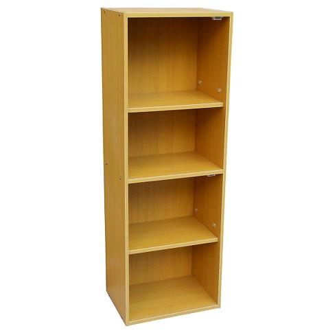 "47.5"" 4 Tier Adjustable Book Shelf Tan Wood - Ore International - image 1 of 1"
