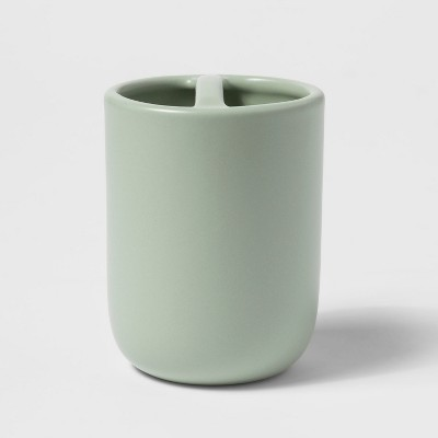 Ceramic Toothbrush Holder Silver Green - Project 62™