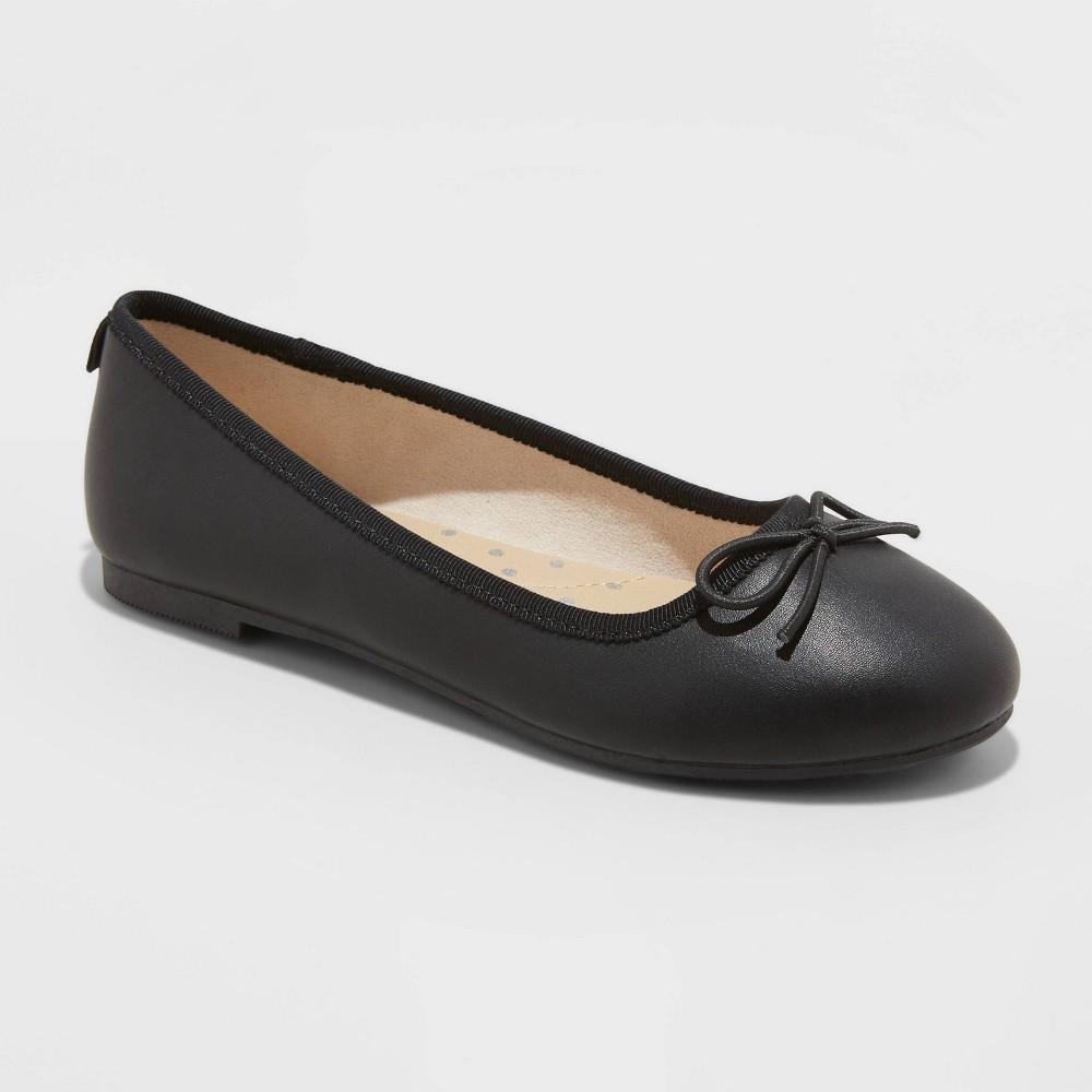 Girls 39 Stacy Slip On Ballet Flats Cat 38 Jack 8482 Black 13
