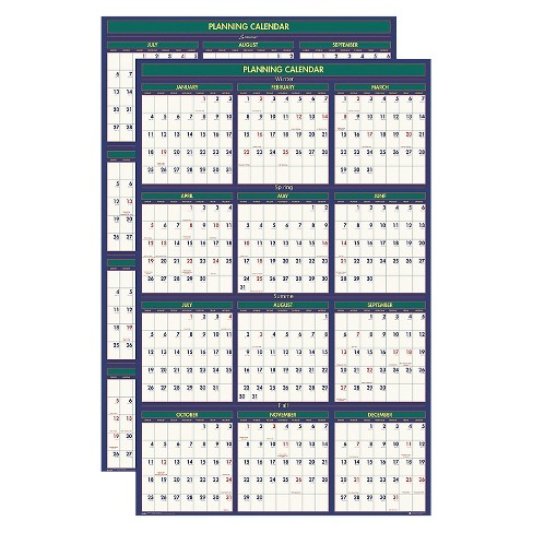 House of Doolittle™ Recycled 4 Seasons Reversible Business/Academic Wall Calendar, 24x37, 2017-2018 - image 1 of 1