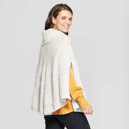 Womens Poncho Sweater Universal Thread Gray Target