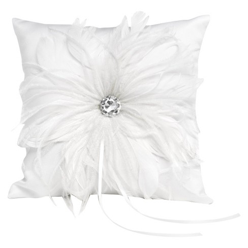 Feathered Flair Wedding Collection Ring Bearer Pillow Target