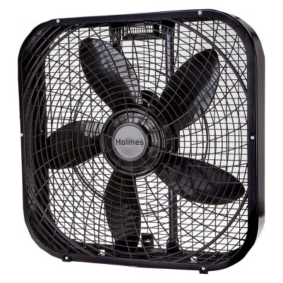 20  3-Speed Box Fan Black - Holmes