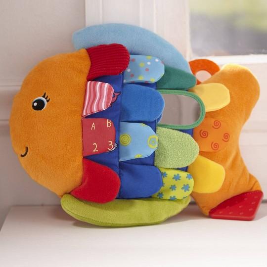 Melissa & Doug Flip Fish Soft Baby Toy image number null