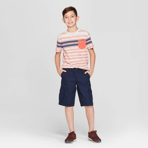 cf98c140fc Boys' Pull-On Cargo Shorts - Cat & Jack™ Navy XL Husky : Target