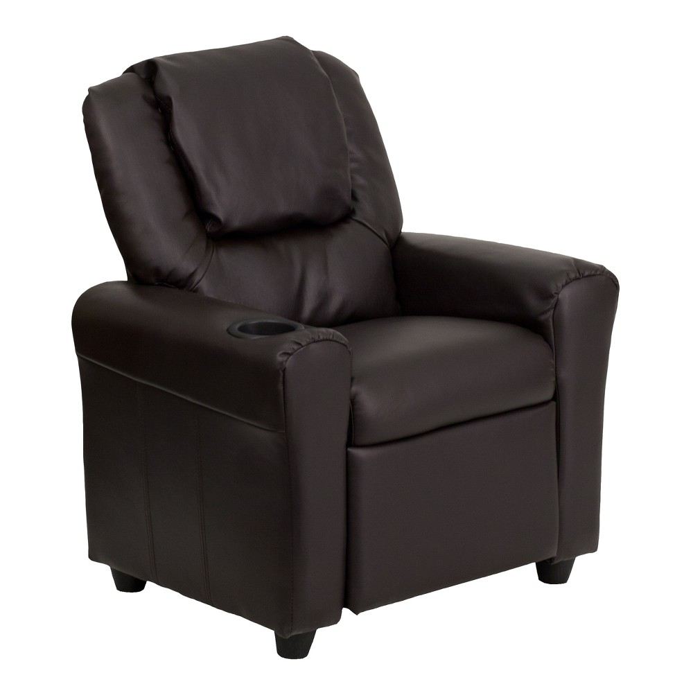 Riverstone Furniture Collection Kids Recliner Leather Brown