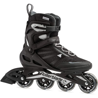 Rollerblade 07958600816-8 Zetrablade Men's Adult Fitness Inline Skate, Size 8, Black, Silver and Black