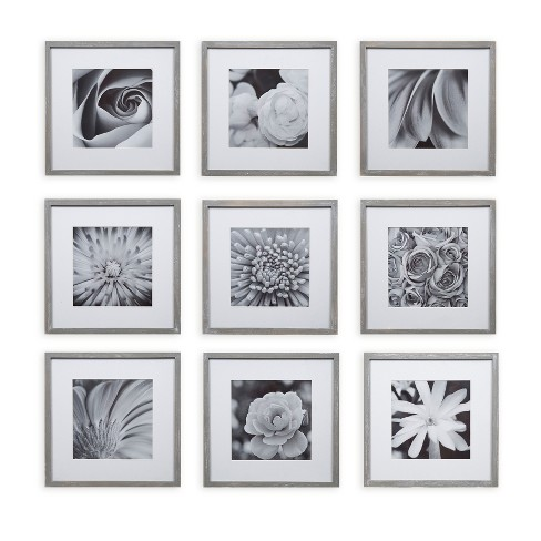 Gallery Perfect 8 X 8 9pc Square Photo Wall Gallery Kit With De