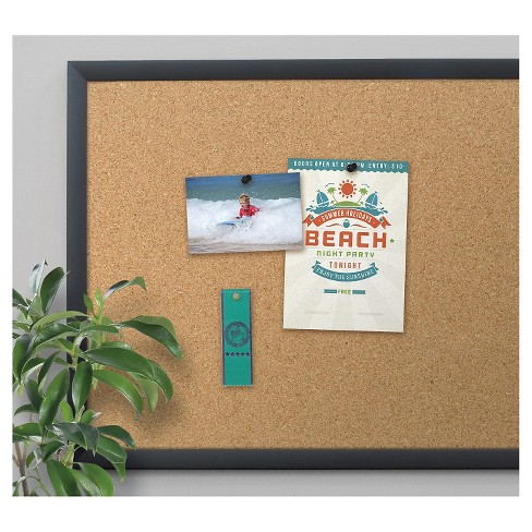 U Brands Cork Bulletin Board 35 X 23 Black Frame Target