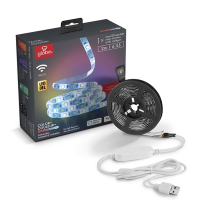 LED Smart 2M/6.6 ft. Wi-Fi Enabled Voice Activated USB Plug-In Strip